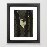 Little Ghost & Owl Framed Art Print