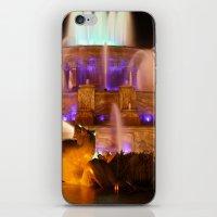 Buckingham Fountain at Night iPhone & iPod Skin