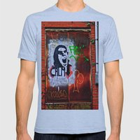 Back Alley Street Art Mens Fitted Tee Athletic Blue SMALL