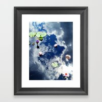 Water Lily Sky Framed Art Print