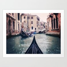 Venice by Gondola Art Print