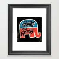 This Machine Elects Fascists Framed Art Print