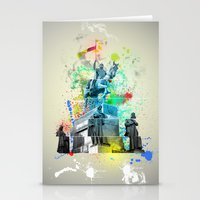 ABSTRACT - MONUMENT OF ST. WENCESLAS, PRAGUE Stationery Cards