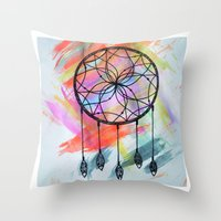 Catching Paint - Dream C… Throw Pillow