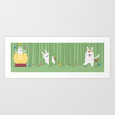 Easter Bunnyville Art Print