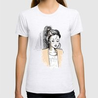 Frenchy Girl Womens Fitted Tee Ash Grey SMALL