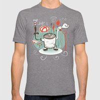Easily Distracted Mens Fitted Tee Tri-Grey SMALL