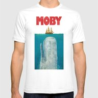 Moby  Mens Fitted Tee White SMALL