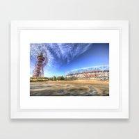 West Ham Olympic Stadium And The Arcelormittal Orbit  Framed Art Print