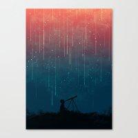 Meteor rain Canvas Print