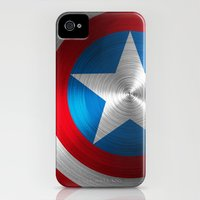 iPhone 4s & iPhone 4 Cases featuring Captain America by Kosept