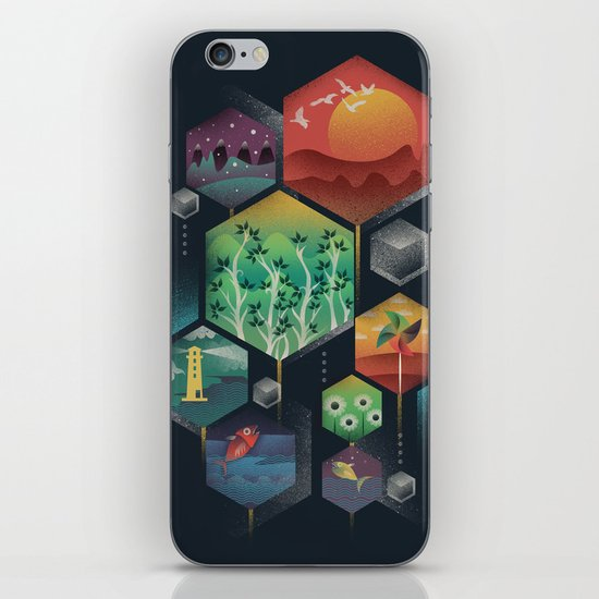 Geometrical Wonders iPhone & iPod Skin