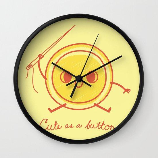 Cute as a button! Wall Clock