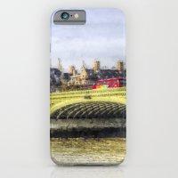 Westminster Bridge and London Buses Art iPhone 6 Slim Case