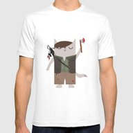 Daryl Dixon The Cat Mens Fitted Tee White SMALL