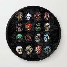 Horror Movie Monster Mas… Wall Clock