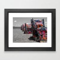 Cadillac Ranch Framed Art Print