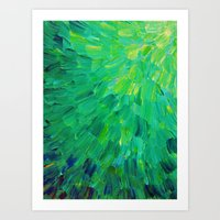 SEA SCALES In GREEN - Br… Art Print