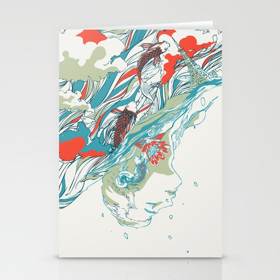 Colours In The Sky Stationery Card