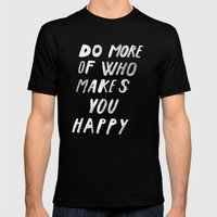 MORE Mens Fitted Tee Black SMALL