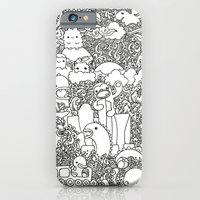 iPhone & iPod Case featuring Oodles of Doodles of Singapore (White) by wanton doodle