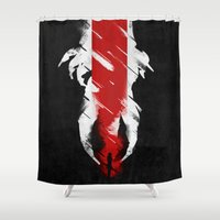 The Effect (FemShep - Reaped) Shower Curtain
