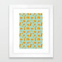 Kitty Pattern Framed Art Print