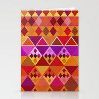 Fire Diamond Pattern Stationery Cards