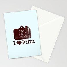I ♥ Film (Maroon/Aqua) Stationery Cards