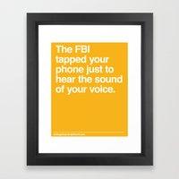 FBI Tapping Framed Art Print