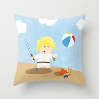 SW Kids - Luke At The Be… Throw Pillow