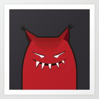 Evil Monster With Pointy… Art Print