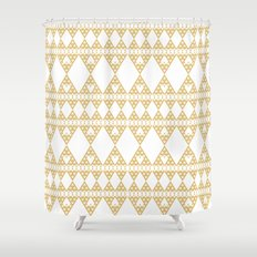 Golden Lace Shower Curtain