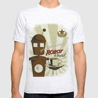 Robot Roast Mens Fitted Tee Ash Grey SMALL