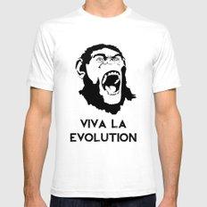 VIVA LA EVOLUTION Mens Fitted Tee SMALL White