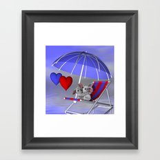 love is in the air -2- Framed Art Print