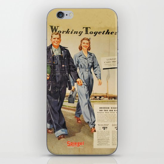 1942 Working Together Cover iPhone & iPod Skin