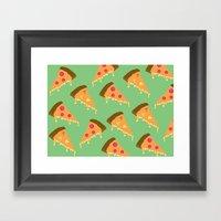 Pizza Is Love Framed Art Print