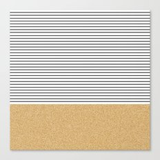 Minimal Gold Glitter Str… Canvas Print
