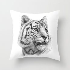 White Tiger G2011-003 Throw Pillow