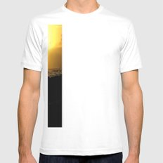 hawaii Sunset Series B Mens Fitted Tee SMALL White
