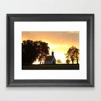 Sunset Church Framed Art Print