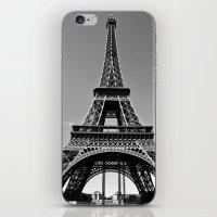 Tower Eiffel En Noir iPhone & iPod Skin