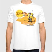Visit Pandora! Mens Fitted Tee White SMALL