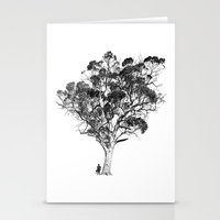 Tree and Gangster Stationery Cards