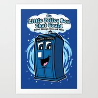 The Little Police Box Art Print