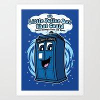 The Little Police Box Art Print
