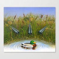 Sitting Duck Canvas Print