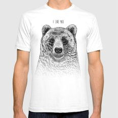 I Like You (Bear) SMALL White Mens Fitted Tee