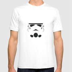 Star Wars Minimalism - Stormtrooper Mens Fitted Tee White SMALL